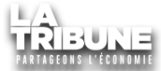 Logo tribune blanc